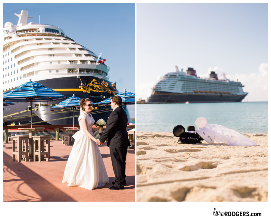 Disney Cruise Wedding Photography by Lora Rodgers