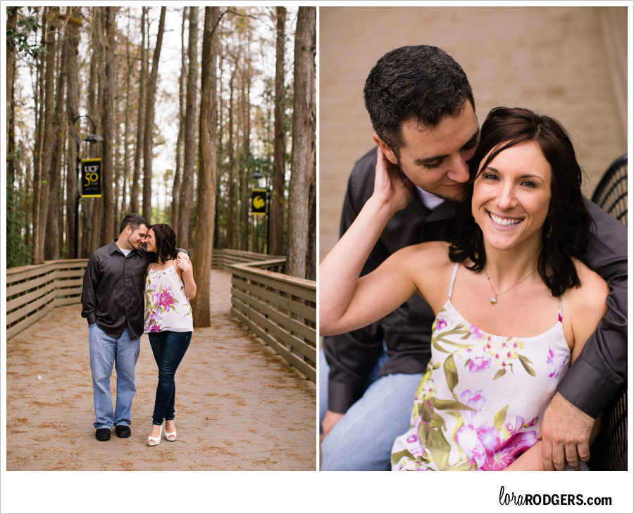 Engagement Photography UCF Orlando Florida - by Lora Rodgers