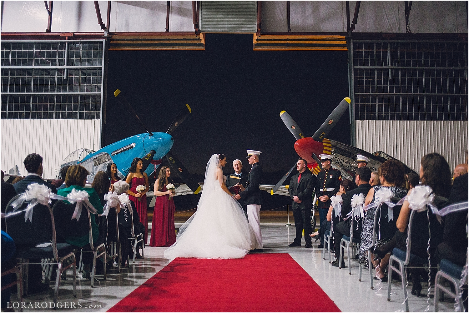 Fantasy of Flight Wedding Day Polk City Florida