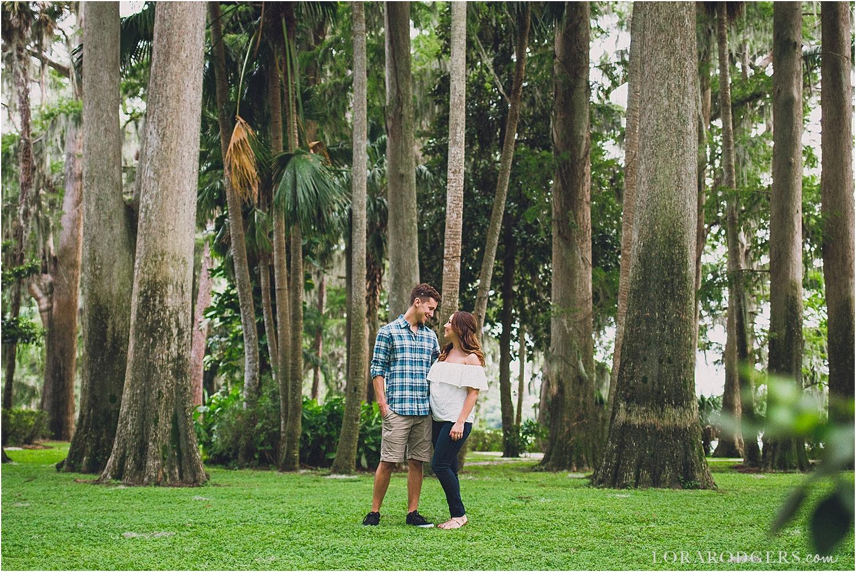 Kraft Azalea Garden Park Casa Feliz Engagement Session Winter Park Florida
