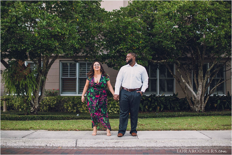 Park Avenue Winter Park Florida Engagement Session