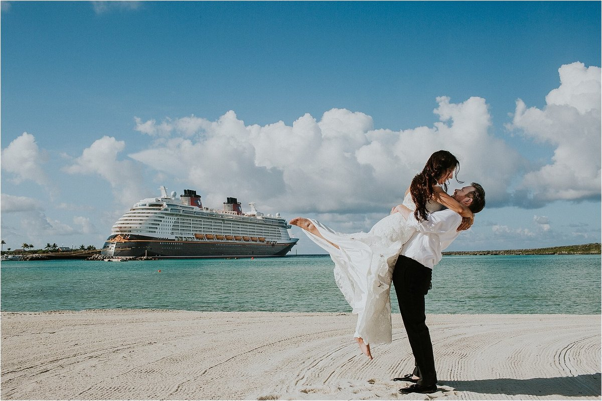 Disney Dream Disney Cruise Line Castaway Cay Bahamas Wedding Photographer Orlando Florida Lora Rodgers